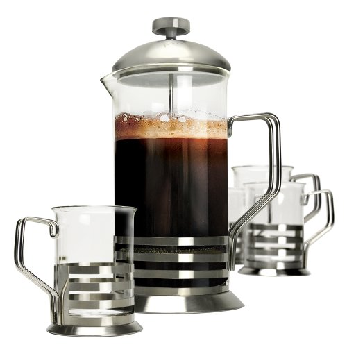 Primula 5-Piece Coffee Press Gift Set, Stainless Steel