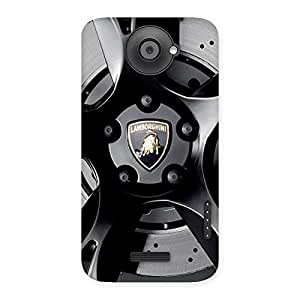 Impressive Lm Wheel Back Case Cover for HTC One X