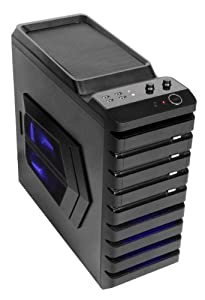 Sentey® Gaming Computer Case Gs-6070 Abaddom / 1 X 180mm Fan Side Panel / 1 X 120mm Blue Led Fan Cooler Top/ 1 X 120mm Blue Led Fan Cooler Front / 1 X 120mm Black Fan Back / 2 X Fan Control / Secc 0.7mm / ATX / Mid Tower / 4 X USB 2.0 / Hd Audio + Watercooling Ready + Hidden Cable Sytem / Aluminum Removable Bays / Cable Management / Total of Fan Cooler Included in the Case 4 / Support Long Size VGA Cards / Computer Case / Support Any Power Supply As 80 Plus Standard Bronze Gold or Platinum / Cable Management for Modular Power Supply - Best Pc Gaming and Desktop Mid Tower - Support Cheap and Expensive Video Cards AMD and Nvidia Ultra Pro Systems - Hard Drive HDD Aluminum Cage Removable for Better and Easy Assembly