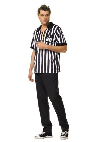 Referee Shirt Adult Costume Medium-Large X-Large