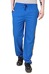 Aventura Outfitters Single Jersey Trackpant Royal Blue With Orange & White Stripe - XL (AOSJTP504-XL)