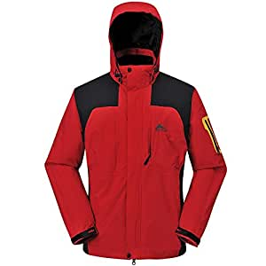 COX SWAIN TITANIUM Damen 2-Lagen Outdoor Multifunktionsjacke CYPRESS, Farbe: Red/Black, Größe: XL