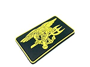 US Navy Seal Special Ops Aigle en or Patch Velcro Airsoft PVC