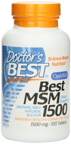 For Sale! Doctor's Best Best MSM (1500 mg) Tablets, 120-Count