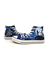 Converse All Star Hand Painting Nightmare Before Christmas Men Women Canvas Shoes