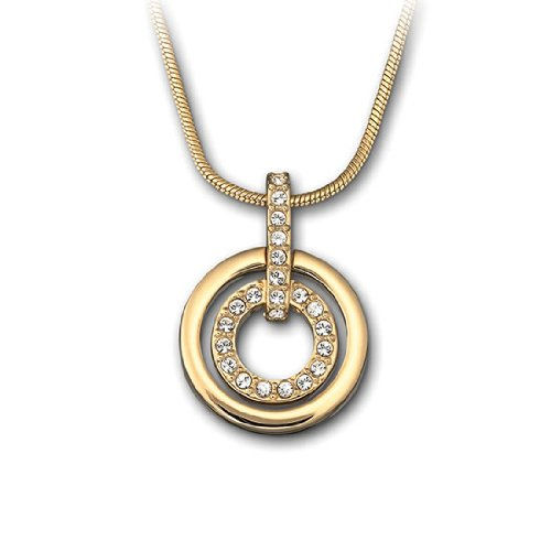 Swarovski Circle Pendant, Gold-Plated
