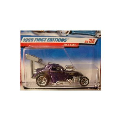 Hot Wheels 1999-11 First Editions Fiat 500C Metalflake PURPLE 1:64 Scale - 1