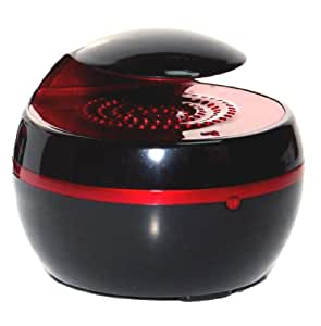 "Francois et Mimi ""Trois Plus"" Intelligent Bluetooth Audio Speaker with Enhanced Bass Playback for Smartphones, Tablets, MP3 Players and More (Provides both Bluetooth Connectivity and AUX input), Utilizes Bluetooth 4.0, Features Playback Controls, Black & Red"