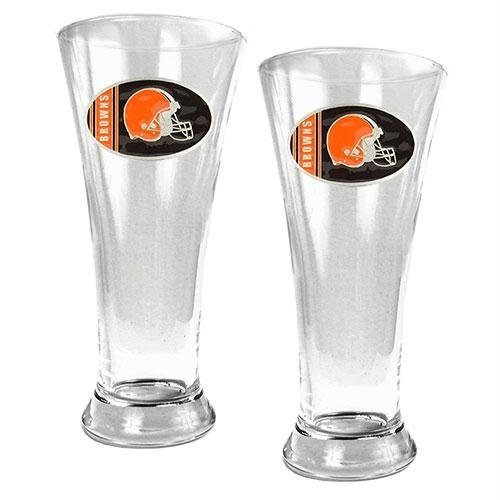NFL Cleveland Browns Two Piece 19-Ounce Pilsner Glass Set at Amazon.com