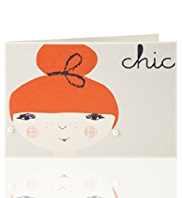 Illustrative Chic Lady Greetings Card