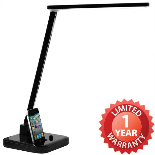 Duogreen LED Lamp Desk Light Stand w/ iPhone iPod Docking Station Speaker