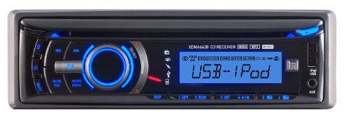 Dual XDMA6438 In-Dash CD/MP3/USB Car Stereo Receiver with iPod and iPhone Control and Front USB/Auxiliary Input