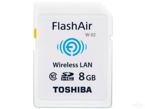 Toshiba wireless LAN onboard Flash Air Wi-Fi SDHC card 8 GB Class10 SD-R008GR7AL01 4904550894378
