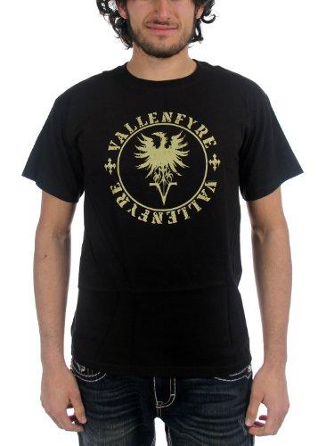 Vallenfyre Label-Maglietta a maniche corte, da uomo, colore: nero nero Medium