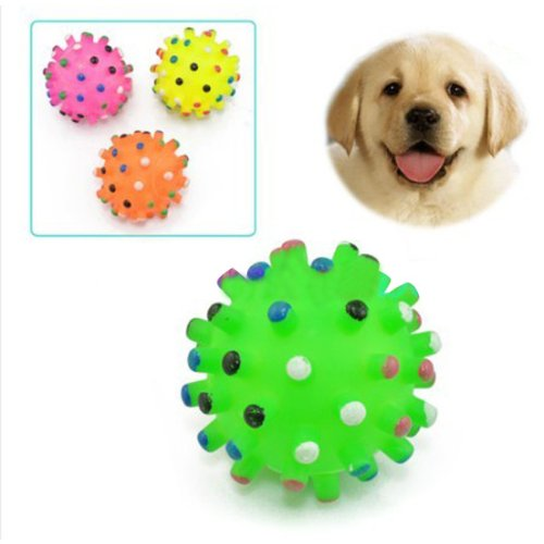 Pet Lovely Squeaker Sound Toy Chews Colorful Ball