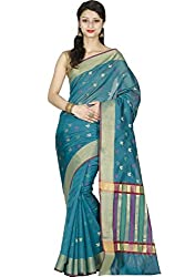 JMT Women's Silk Saree ( JMT109 _ Blue )