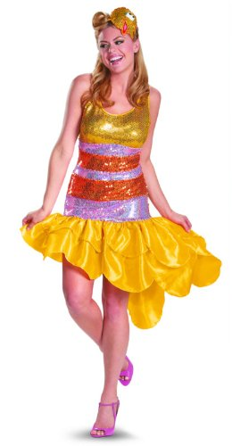 Disguise Sesame Street Big Bird Glam Deluxe Womens Adult Costume