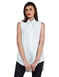 Oxolloxo Women green high-low shirt