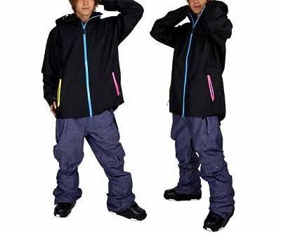 VAXPOT(バックスポット) スノーボードウェア 上下セット ジャケット&パンツ 男性用 スノーボード セット ウエア M(男性用M) MS-01(BK/DM)