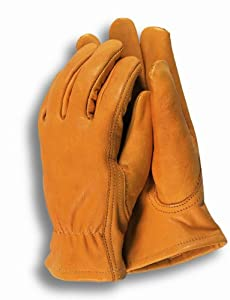 Town & Country Large Premium Leather Gardening Gloves for Men