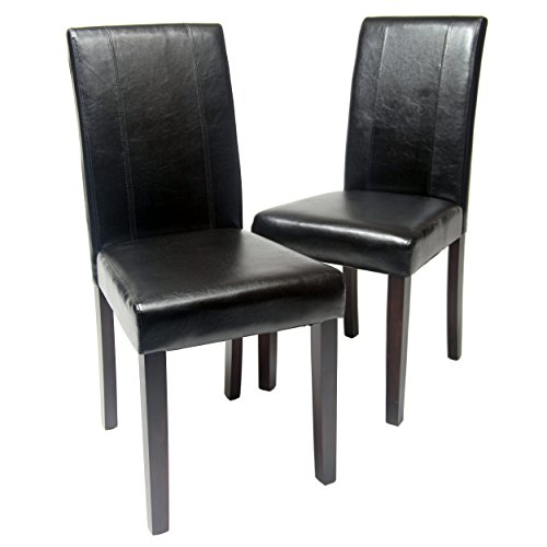 roundhill-furniture-urban-style-solid-wood-leatherette-padded-parson-chair-black-set-of-2