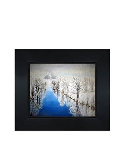 Susan Art The Cold Framed Canvas Print