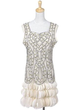 bf8e1921e6 Anna-Kaci Women s Infinity Braid Flapper Dress with Scalloped Petal Hem