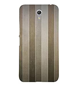 Brown Line Pattern 3D Hard Polycarbonate Designer Back Case Cover for Lenovo Zuk Z2 Pro