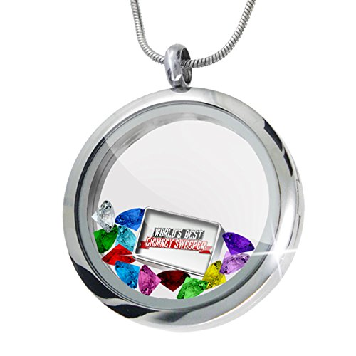 Floating Locket Set Worlds Best Chimney Sweeper + 12 Crystals + Charm, Neonblond (The Incredible Sweeper compare prices)