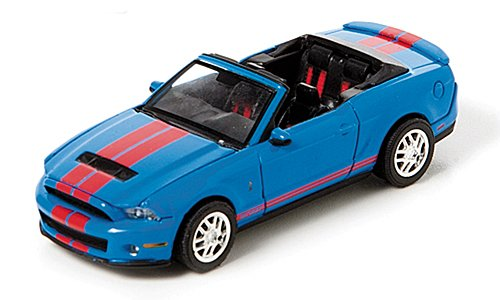 Shelby GT500 Convertible, blue/red, 2010, Model Car, Ready-made, Greenlight 1:64 - 1