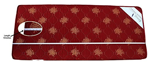Story@Home Single Size Foam Premium 4 inch Mattresses Maroon (72