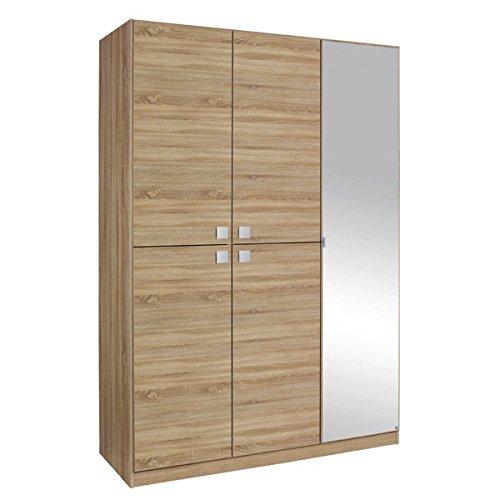 Kleiderschrank grau 5 Türen B 136 cm Schrank Drehtürenschrank Spiegelschrank Wäscheschrank Kinderzimmer Jugendzimmer bestellen