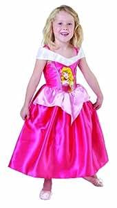 Disney - I-881853L - Déguisement - Costume Classique la Belle au Bois Dormant - Robe en Satin Rose et Tour de Cou - Taille L