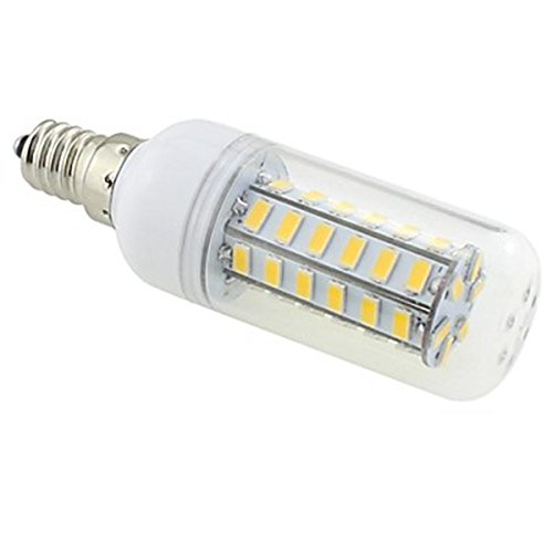 Generic E14 7W 48X5730 Smd 550~600Lm 3000~3500K Warm White Light Led Clear Cover Corn Bulb Ac 220V~240V