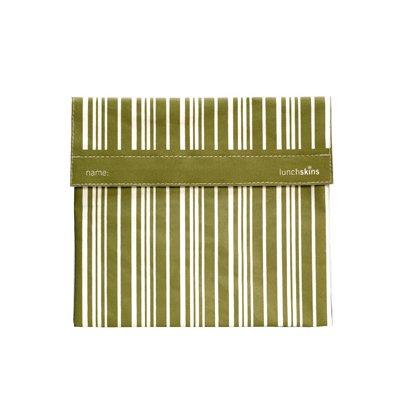 Reusable Cloth Sub Bag - Moss Vertical Stripe - 1