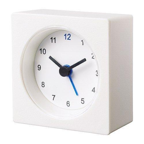 1 X IKEA White Travel Alarm Clock Battery Operated NEW