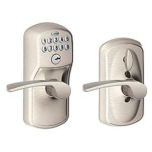Honeywell 8104301 Straight Entry Door Lever Satin Nickel