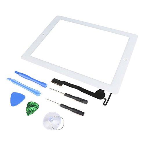 Weiß Ersatz Digitizer Touch Screen Panel Front Glas + Werkzeug und Kleber für Apple iPad 44. A1460A1459A1458