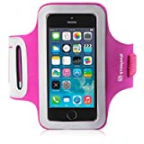 Shocksock Reflective Sports Armband, Case, Cover, Holder for iPhone 5S - Hot Pink