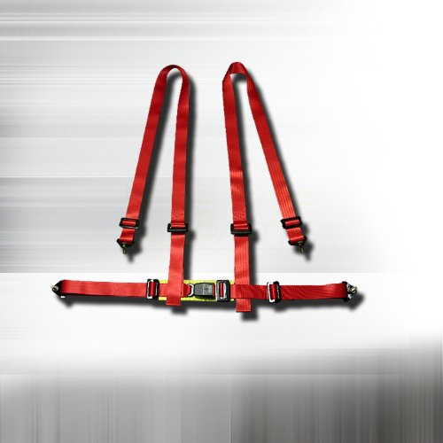 Racing Seat Belt 4 Point Harness - Red (Race Car Harness compare prices)