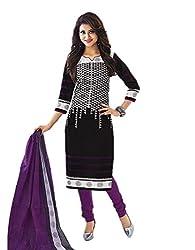 Aarvi Women's Cotton Unstiched Dress Material Multicolor -CV00065