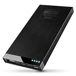 ReVIVE ReStore 4000mAh Portable USB External Backup Battery Charger & Power Bank- Works with Samsung Galaxy S4 , S3 / Nokia Lumia 1020 / HTC One , Droid DNA / Motorola MOTO X , Droid & more!