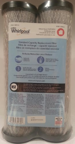 Whirlpool Carbon 149010 WHEF-WHWC Standard Capacity Replacement Water Filter (2 Pack)