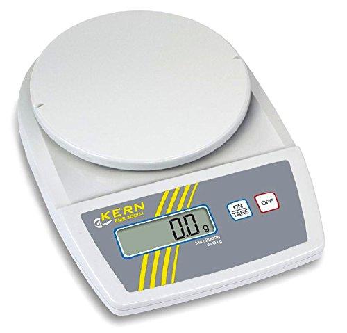 Balance de laboratoire d'entrée de gamme avec performance très élevée de pesée [Kern EMB 3000-1]Lecture 0,1 g, Portée 3000 g