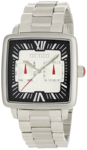 Ted Baker Men's TE3024 Time Flies Classic Square Television Analog Multi-Function Case Watch