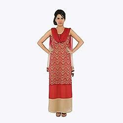 Nirali Women's Georgette Salwar Kameez SemiStiched Dress Material - Free Size (Maroon)