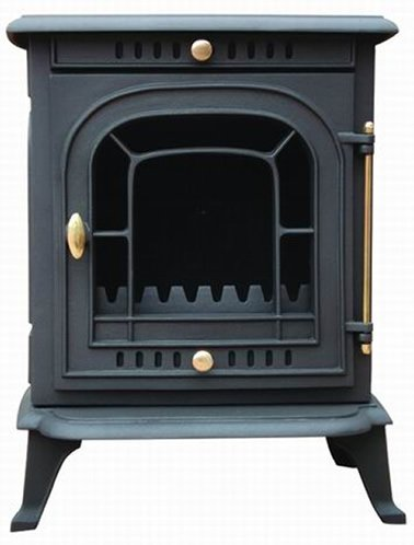 9Kw Thick Cast Iron Multi Fuel Wood Coal Log Burning Stove Heater Burner Black