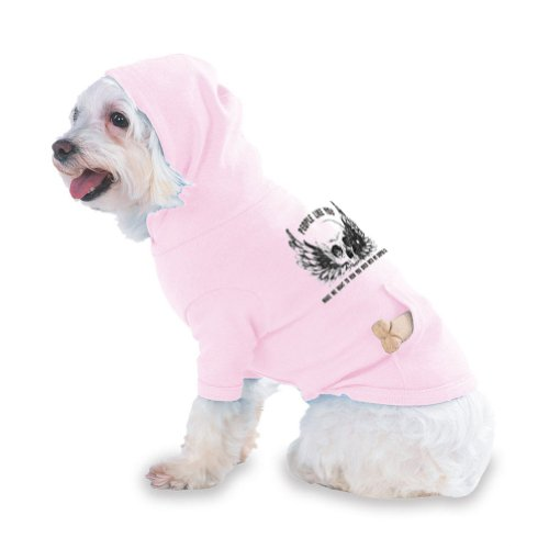 PEOPLE LIKE YOU MAKE ME WANT TO RUN YOU OVER WITH MY SHOPPING CART Hooded (Hoody) T-Shirt with pocket for your Dog or Cat Medium Lt Pink