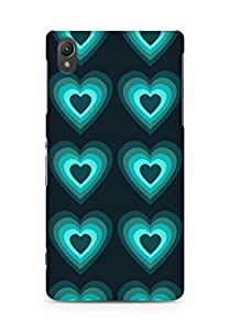Amez designer printed 3d premium high quality back case cover for Sony Xperia Z2 (Heart glow surface texture)