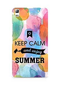 Amez Keey Calm and Enjoy Summer Back Cover For Lenovo A7000